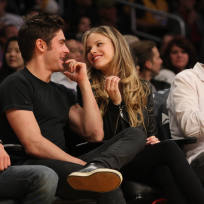 Halston Sage and Zac Efron Pic