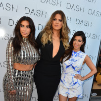 Kim, Khloe and Kourtney Kardashian Image