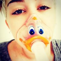 Miley Cyrus Quacks Up
