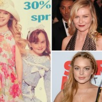 Kirsten Dunst and Lindsay Lohan as Kids