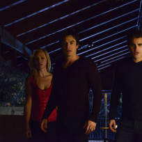 Caroline, Stefan and Damon
