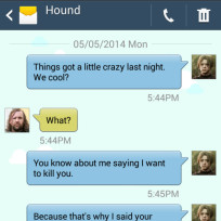 Game of thrones text the hound