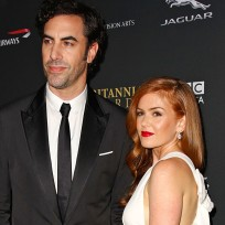 Isla Fisher and Sacha Baron Cohen Photo