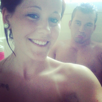 Jenelle Evans Shower Selfie