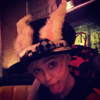 Miley Cyrus with Facepaint