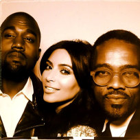 Kimye Wedding Booth Pic
