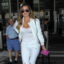 Khloe Kardashian at JFK