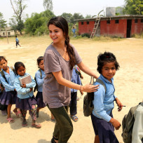 Selena Gomez with UNICEF