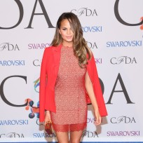 Chrissy Teigen at Fashion Awards