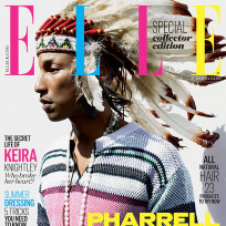 What do you think of Pharrell Williams donning this Indian headdress for Elle?