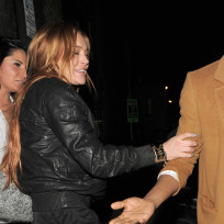 Lindsay lohan loaded in london