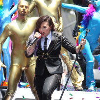 Demi Lovato at Gay Pride Parade