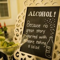 17-awesome-wedding-signs_blame-it-on-the
