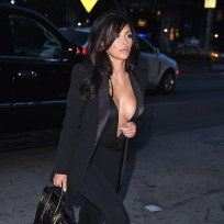 Kim kardashian and her large boobs