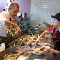 Barack Obama at Chipotle