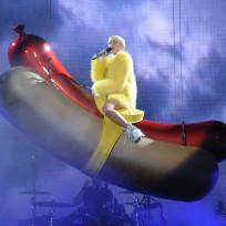 Miley Cyrus Rides a Hot Dog