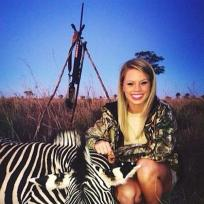 Kendall Jones with Dead Zebra