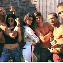 Kylie and Kendall Jenner With Male Models