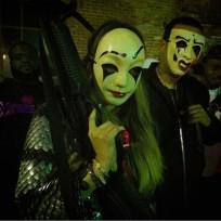 Khloe kardashian and french montana gun image