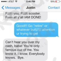 13 celebrity text messaging scandals justin bieber vs selena gomez