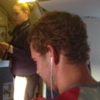 Nick Viall on Plane