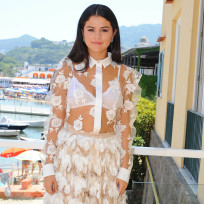 Selena gomez sheer in italy