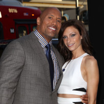 Lauren Hashian with The Rock