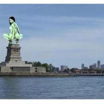 Nicki Minaj as the Statue of Liberty