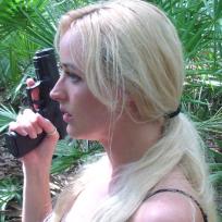 Bunny-hunter-with-a-handgun