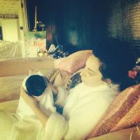 Gaga Over Her Dog