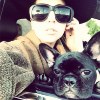Lady-gaga-and-dog-selfie