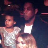Blue ivy and jay z at vmas