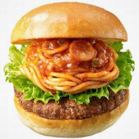 Spaghetti-burger-photo
