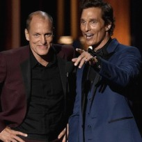 Woody harrelson and matthew mcconaughey on stage