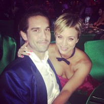 Kaley Cuoco and Ryan Sweeting after the Emmys