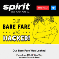 This Spirit Airlines ad is...