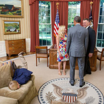 Bored in the oval office