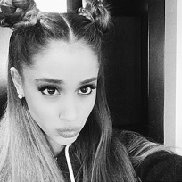 Ariana grande with princess leia buns