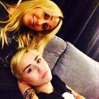 Tish and Miley Cyrus Selfie
