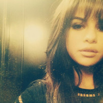 Selena gomez with bangs
