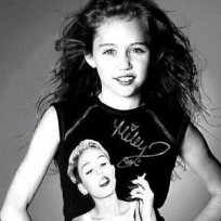 Miley Cyrus Wearing a Miley Cyrus Shirt
