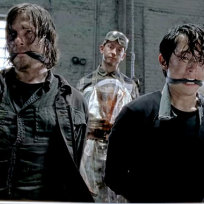 Daryl and glen on the walking dead