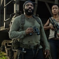 Tyreese and sasha on the walking dead