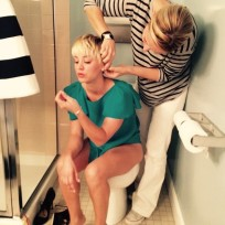 Kaley cuoco toilet photo