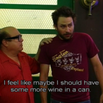 Always sunny canned wine