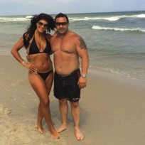 Teresa and Joe Giudice on the Beach
