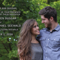 Jessa duggar wedding invitation