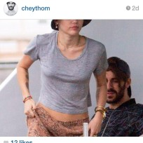 Cheyne thomas checking out miley cyrus butt