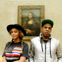 Beyonce and jay z mona lisa selfie