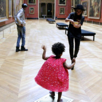 Beyonce jay z and blue ivy at the louvre